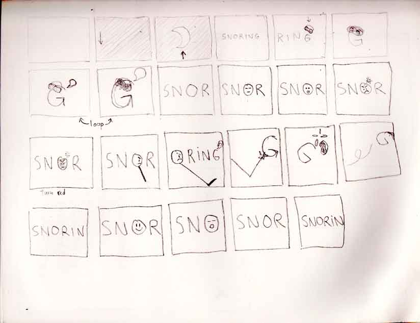 Storyboard for the project Descriptive Words.