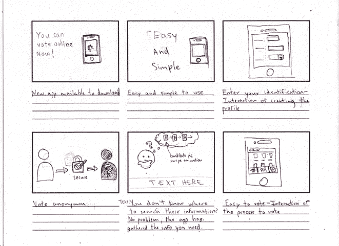 Storyboard #1 for the project UI animation.
